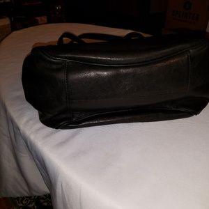 Frye Bags - FRYE BLACK MADISON LEATHER SHOULDER BAG